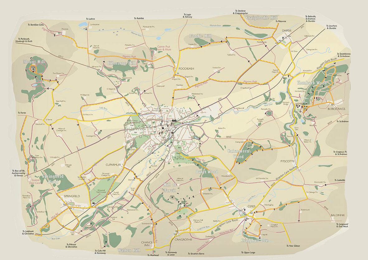Map of area covered by Classic Cupar