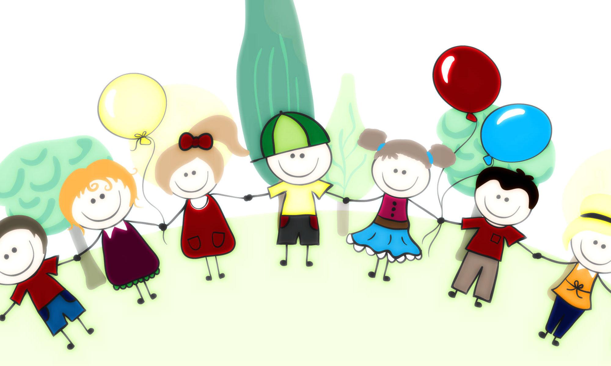 Image of children holding hands